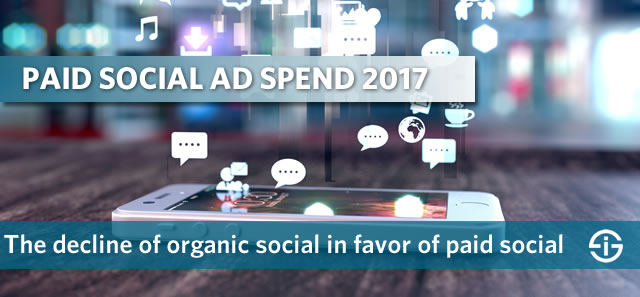 Paid social ad spend 2017 - the decline of organic social in favor of paid social