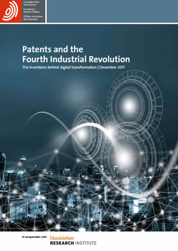 Patent applications at the European Patent Office and conclusions on fourth industrial revolution technologies inventions and eevolutions in the full document of the EPO - click to download PDF