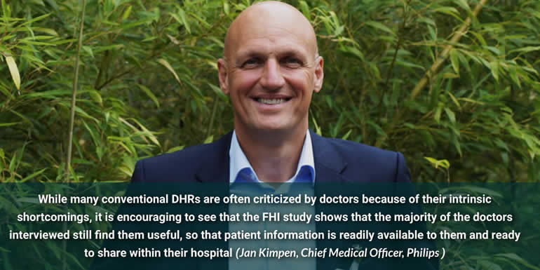 Philips Chief Medical Officer Jan Kimpen comments on the feedback from doctors on the usefulness of digital health records per the Future Health Index 2019 - picture Jan Kimpen source and courtesy