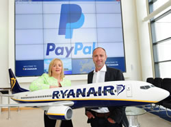Ryanair and Paypal strike a - mobile and digital - payment deal - source press release