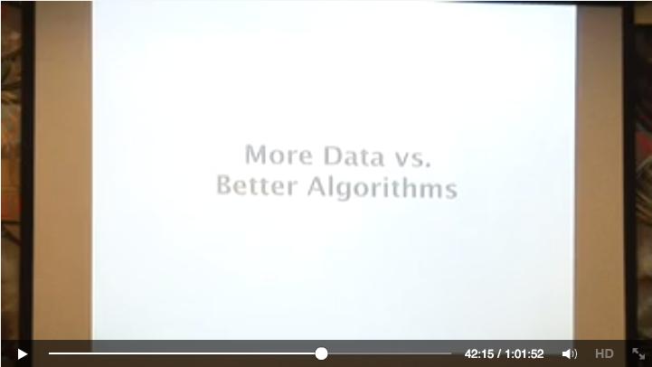 More Data vs Better Algorithms