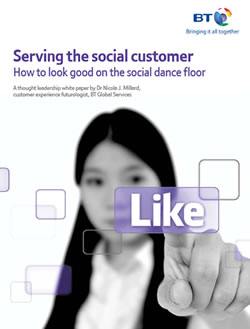 Serving the social customer - how to look good on the social dance floor - the research mention awaiting new research - PDF opens