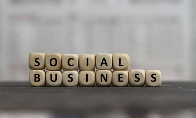 Social business strategy concept