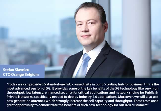 Ștefan Slavnicu, Chief Technology Officer at Orange Belgium since 2018, comments on the Orange Industry 4.0 Campus 5G testing hub in the port of Antwerp - picture source and courtesy