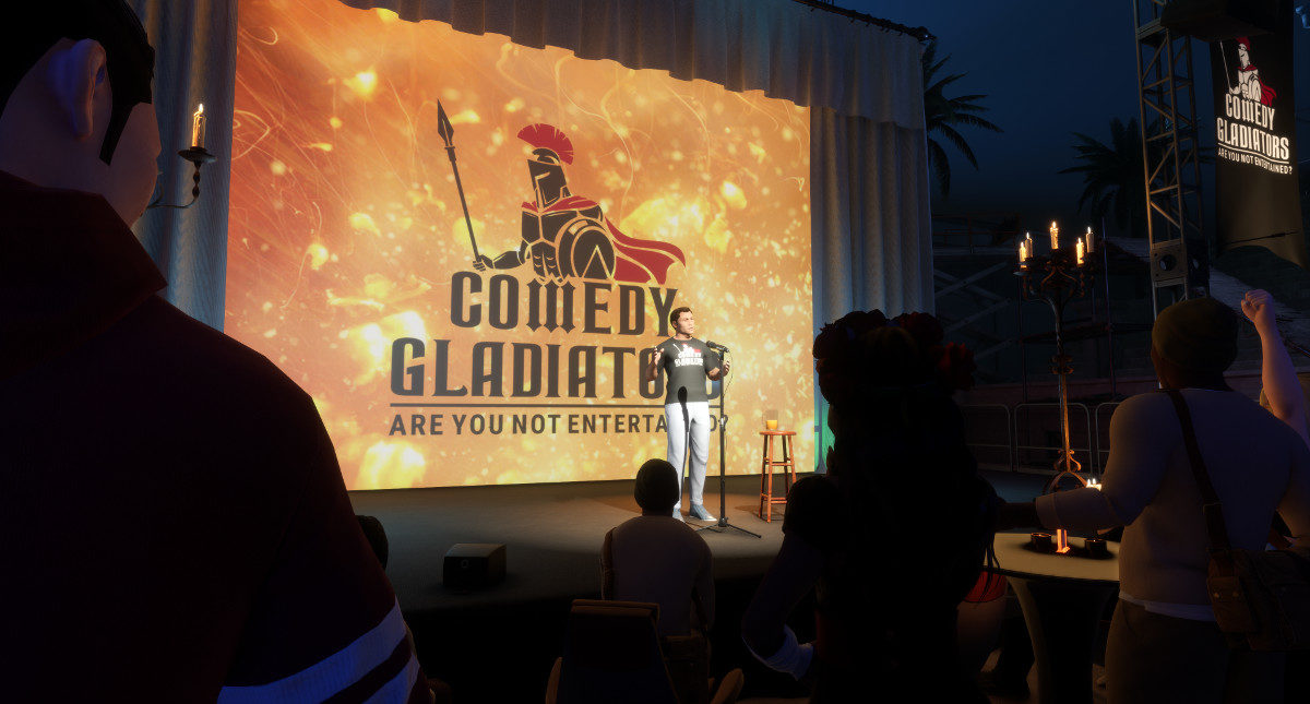 Tech Trends Comedy Gladiators Sansar Linden Lab Second Life Virtual Reality Live Events VR Consultancy