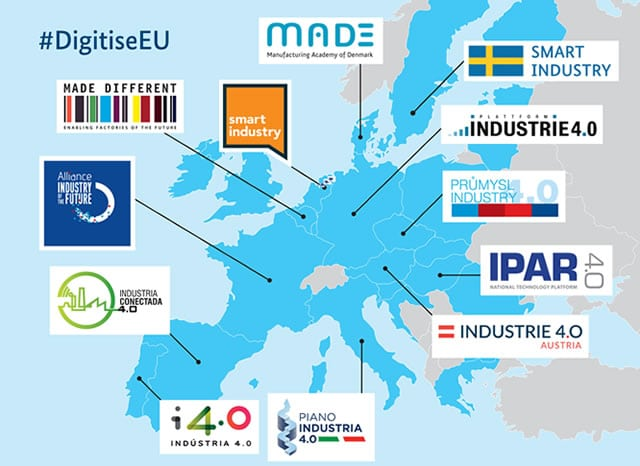 The 12 Industry 4.0, Smart Industry and other national industry transformation programs in the EU as of March 2017 - source and more info