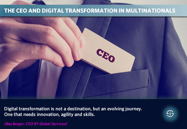 The CEO and digital transformation in multinationals