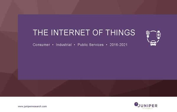 The Internet of Things - Consumer, Industrial & Public Services 2016-2021