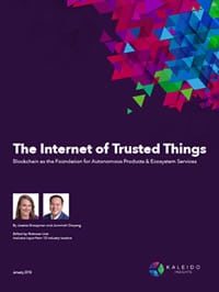 The Internet of Trusted Things Blockchain as the Foundation for Autonomous Products & Ecosystem Services - get the full report