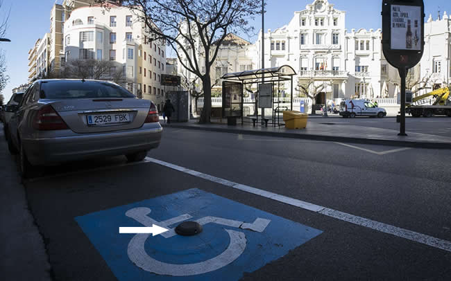 The Libelium smart parking nodes with radar technology are deployed in a project where 190 nodes are being installed to detect the occupation of parking spaces for disabled people