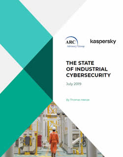 The State of Industrial Cybersecurity 2019 report by Kaspersky and ARC Advisory Group download PDF opens