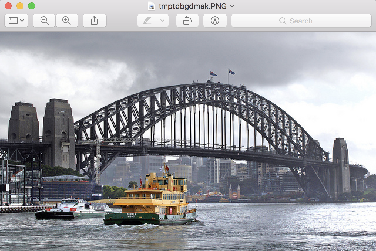 The Sydney Harbor Bridge Photograph Loaded From File