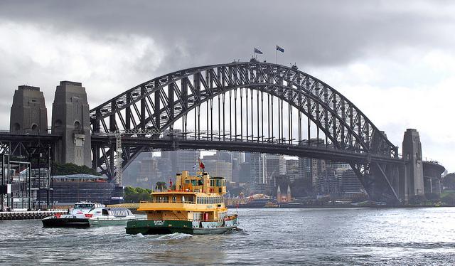 """Sydney Harbor Bridge taken by """"Bernard Spragg. NZ"""""""