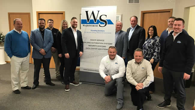 The ability to offer the right integrations is essential to serve changing customer demands says Jeff Groats - here with Wadsworth Solutions team members at the opening of a new location in Yougstown OH