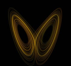 The butterfly the mathematical way - Lorenz attractor - multiple dimensions and non linear