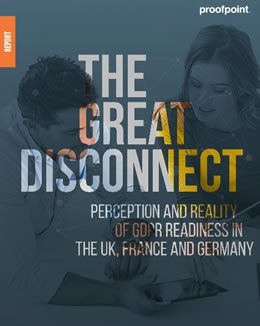 The great disconnect - perception and reality of GDPR readiness report by Proofpoint in PDF