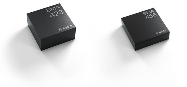 The new high-performance MEMS acceleration sensors for wearables with a step counter integrated in the sensor as announced by Bosch Sensortec in the Summer of 2017 - source