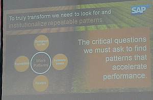 To truly transform we need to look for and institutionalized repeatable patterns - Sameer Patel at CeBIT 2014