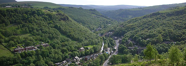 View upon Calder river and Calder Valley – source Wikipedia