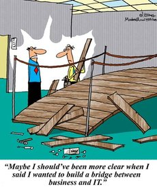 Business Analyst acts as a bridge