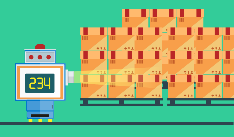 Counting boxes in a warehouse with the image analysis system