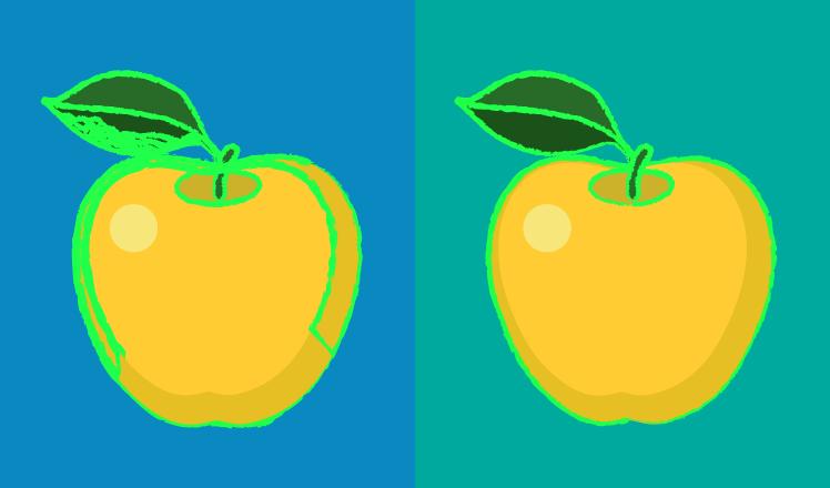 Segmentation of an apple image