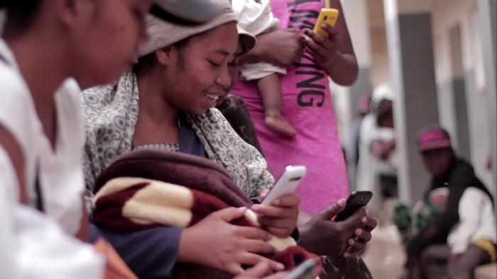 women using ThoughtWorks mTomady app in Madagascar