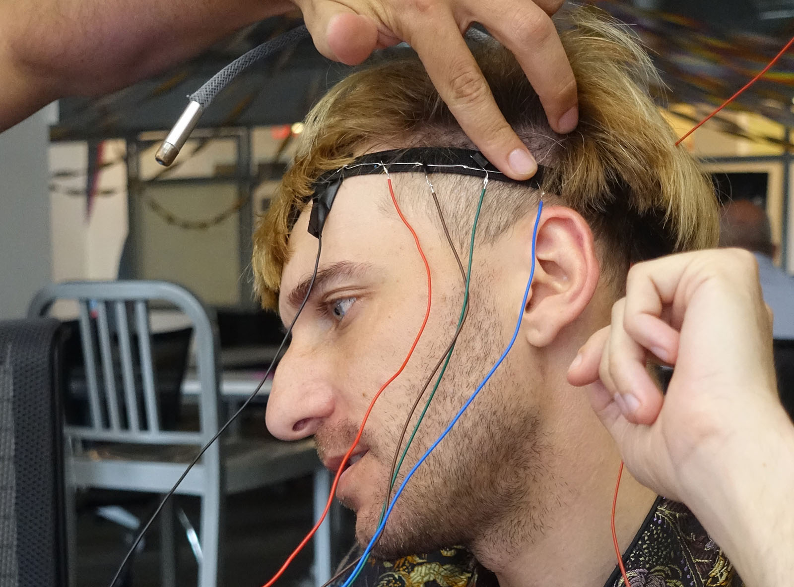 Cyborg Artist Neil Harbisson during his residency at ThoughtWorks