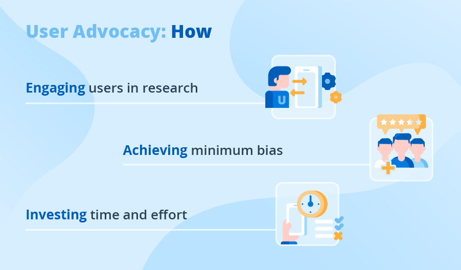 How to implement user advocacy