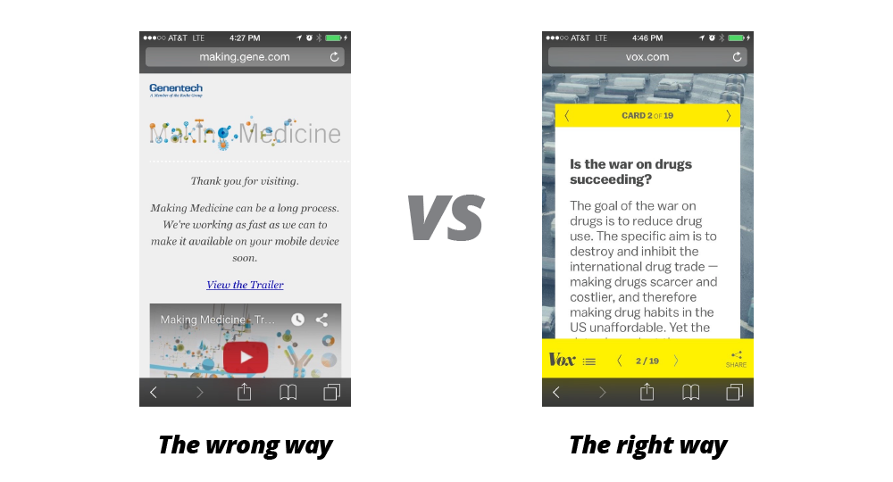 The mobile and social experiences for your content need to be outstanding.