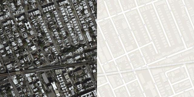 Sample Image From the Maps Dataset Including Both Satellite and Google Maps Image.