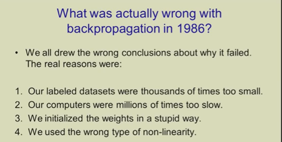 What Was Actually Wrong With Backpropagation in 1986?