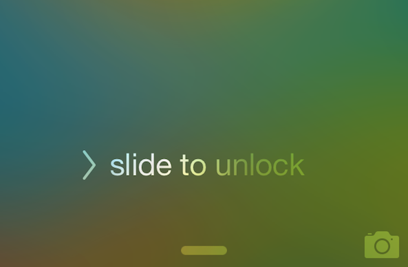 the animation of the iPhone shows users and tells users that it can be unlocked by sliding