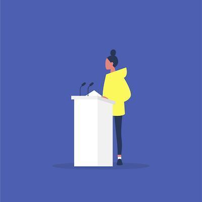 Public speaking stage