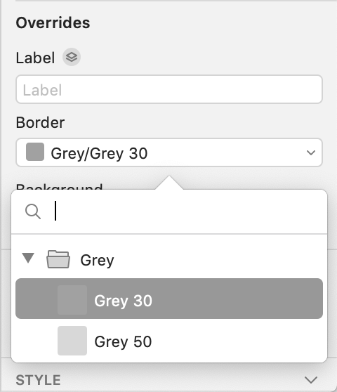 Overriding a layer's color with a shared fill style